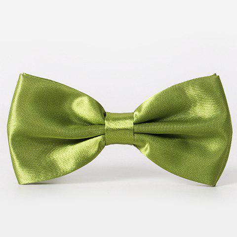 Stylish Men's Solid Color Smooth Satin Bow Tie - CELADON
