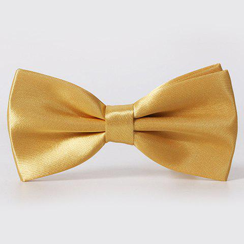Stylish Men's Solid Color Smooth Satin Bow Tie - CHAMPAGNE