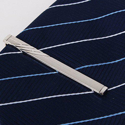 Stylish Hollow Pendant Twill Men's Alloy Tie Clip - SILVER