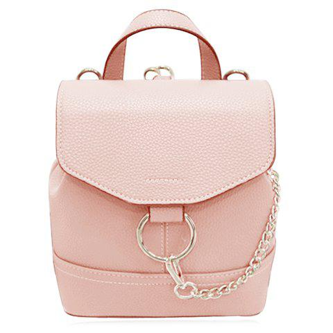 Sweet Solid Color and Chain Design Women's Satchel
