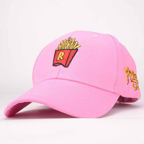 Chic Cartoon Chips Letters Embroidery Baseball Hat For Women - PINK