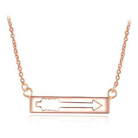 Arrow Hollow Out Necklace - GOLDEN