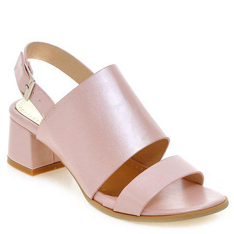 Fashionable PU Leather and Solid Colour Design Women's Sandals