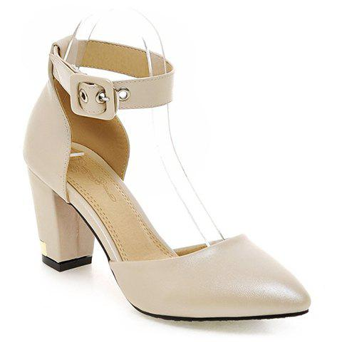 Stylish Pointed Toe and Two-Piece Design Women's Pumps - APRICOT 36