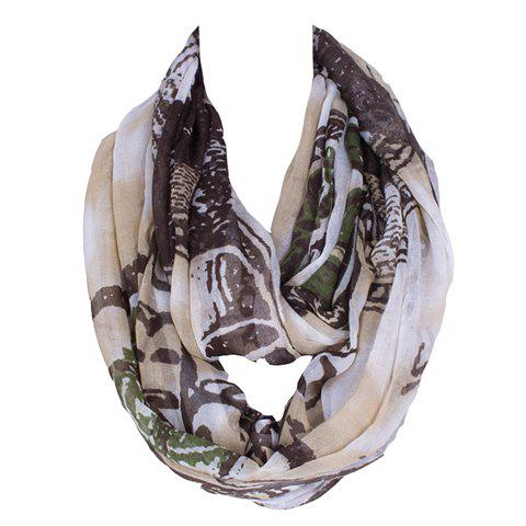 Chic US Dollar Pattern Women's Voile Bib Scarf - BLACK