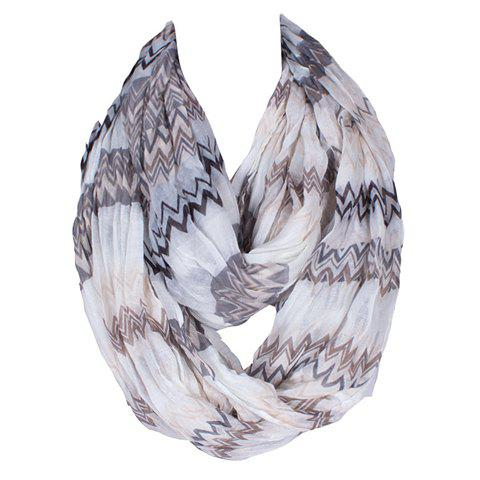 Chic Wavy Stripe Pattern Women's Voile Bib Scarf - BLACK