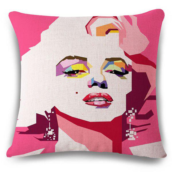 Stylish Marilyn Monroe Pattern Square Shape Pillowcase (Without Pillow Inner)