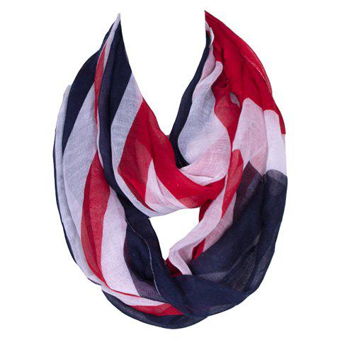 Chic Union Flag Pattern Women's Voile Bib Scarf - PURPLISH BLUE