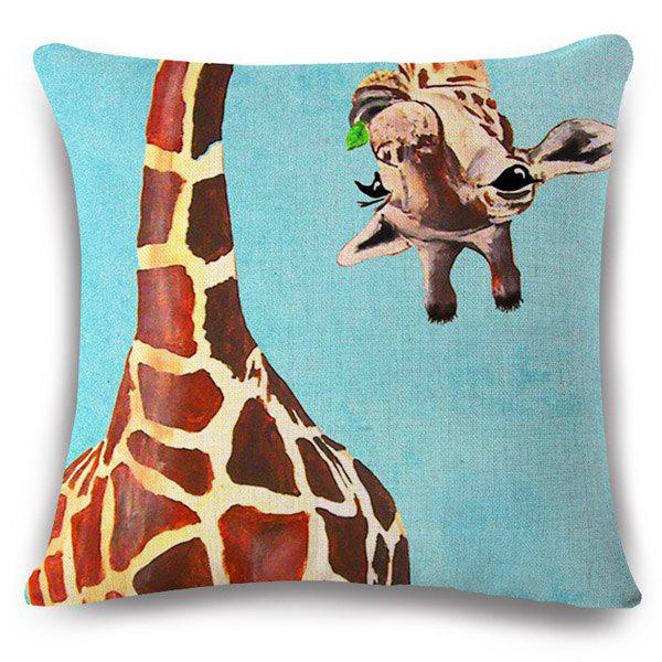 Stylish Flappy Giraffe Pattern Square Shape Pillowcase (Without Pillow Inner) - COLORMIX