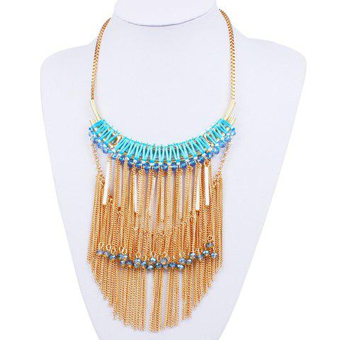 Stunning Rhinestone Bar Chains Jewelry Necklace For Women