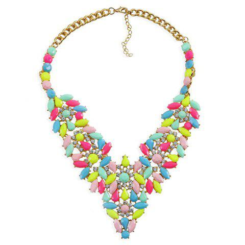 Gorgeous Rhinestones Flower Water Drop Necklace For Women