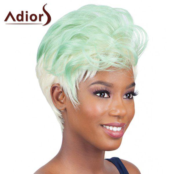 Fluffy Natural Wave Synthetic Trendy Ombre Color Short Women's Adiors Wig - COLORMIX