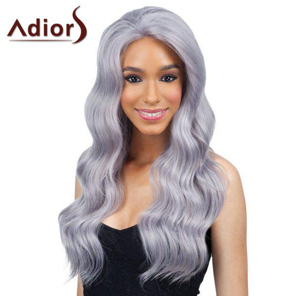 Attractive Long Light Purple Capless Fluffy Wavy Women's Synthetic Adiors Wig - LIGHT PURPLE