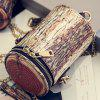 Vintage Double Zipper and Chain Design Women's Crossbody Bag - LIGHT BROWN
