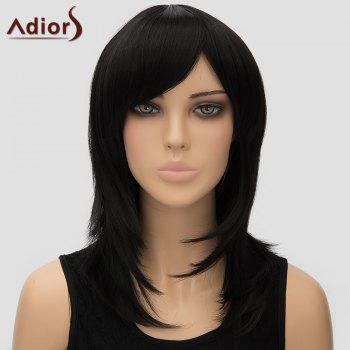 Adiors Women's Inclined Bang Long High Temperature Fiber Wig