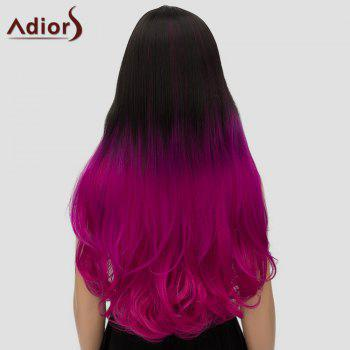 Stylish Adiors Curly Ombre Long High Temperature Fiber Women's Cosplay Wig - OMBRE 2