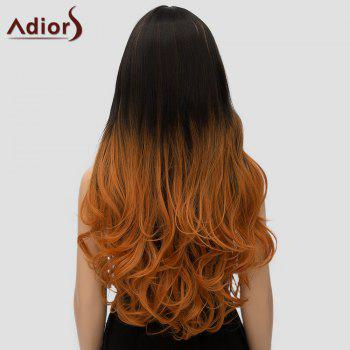 Adiors Curly Long Ombre High Temperature Fiber Women's Cosplay Wig - OMBRE 2