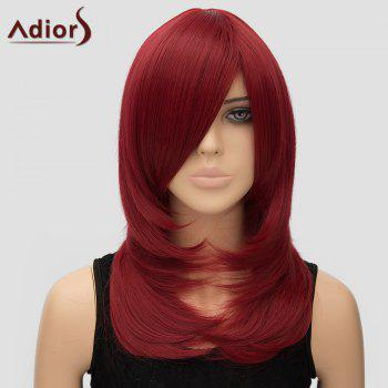 Vogue Adiors Women's Long Layered Side Bang High Temperature Fiber Cosplay Wig