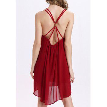 Chic Loose-Fitting Backless Criss-Cross Asymmetrical Women's Dress