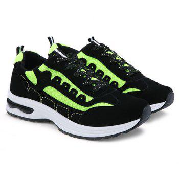 Stylish Mesh and Color Block Design Men's Athletic Shoes - 43 43
