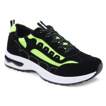 Stylish Mesh and Color Block Design Men's Athletic Shoes - NEON GREEN 43