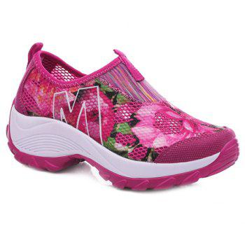 Fashionable Multicolor and Floral Print Design Women's Athletic Shoes