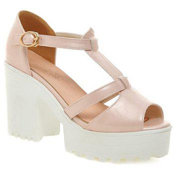 Trendy Platform and Peep Toe Design Women's Sandals