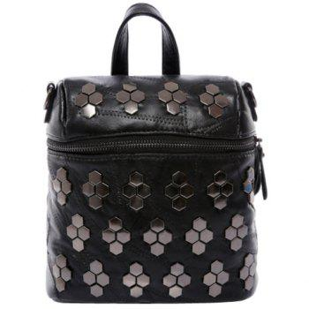 Fashionable Black Color and Stitching Design Women's Backpack