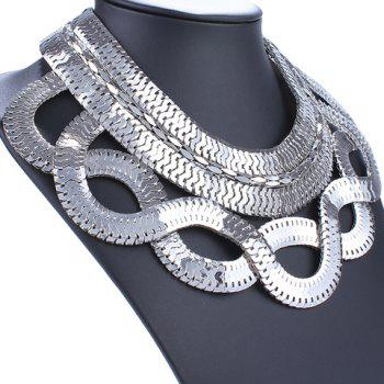 Crossed Snake Necklace - SILVER