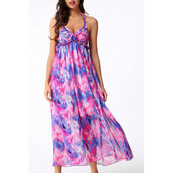 Bohemian Sleeveless Backless Criss-Cross Women's Dress - COLORMIX COLORMIX