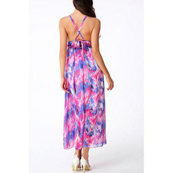 Bohemian Sleeveless Backless Criss-Cross Women's Dress