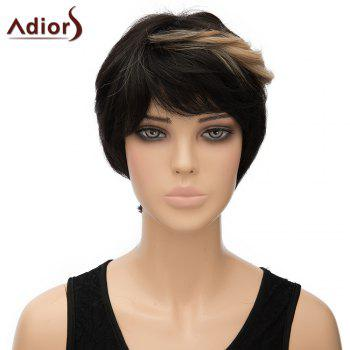 Trendy Brown Highlight Short Synthetic Fluffy Straight Women's Capless Adiors Wig