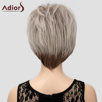 Fluffy Short Straight Capless Two-Tone Ombre Synthetic Adiors Wig For Women - OMBRE 2