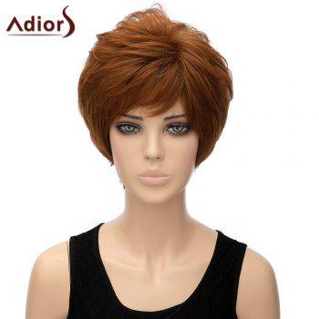 Bouffant Straight Light Brown Short Heat Resistant Synthetic Women's Adiors Wig