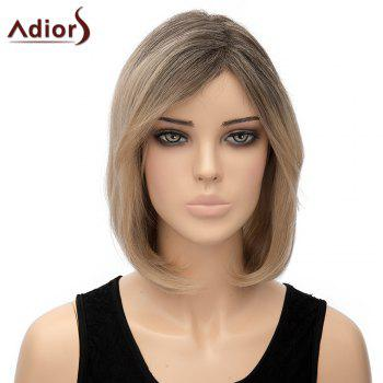 Bob Style Short Capless Stylish Straight Ombre Color Synthetic Adiors Wig For Women