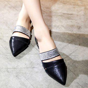 Fashion Color Block and Sequins Design  Women's Flat Shoes - 39 39