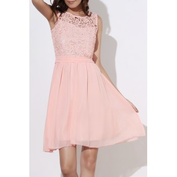 Round Collar Sleeveless Dress