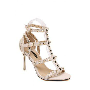Rome Rivet and T-Strap Design Sandals For Women