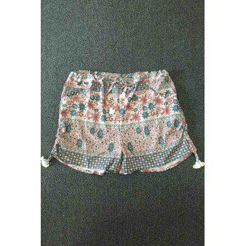 Trendy Small Floral Print Women's Hot Pants