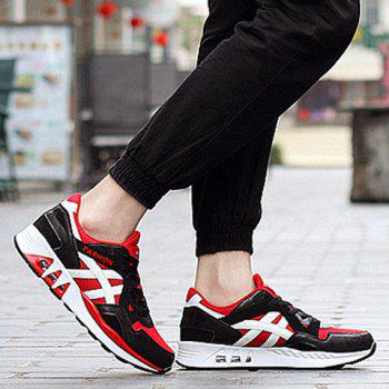 Stylish Breathable and Color Matching Design Men's Athletic Shoes - RED/BLACK RED/BLACK