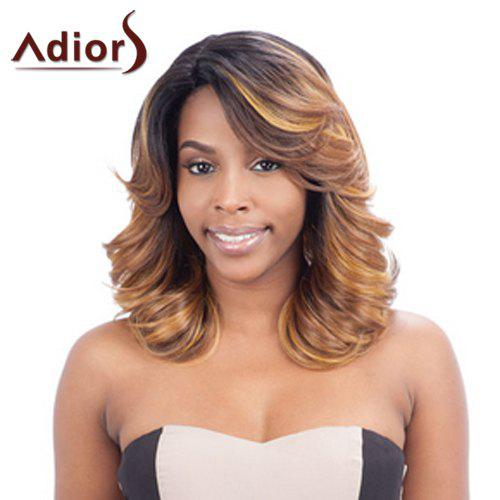 Fluffy Wavy Synthetic Stunning Medium Multicolor Mixed Adiors Wig For Women - COLORMIX