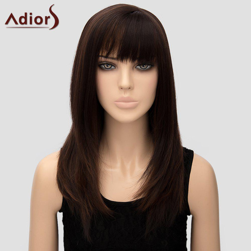Adiors Womens Straight Long High Temperature Fiber WigHair<br><br><br>Color: DEEP BROWN