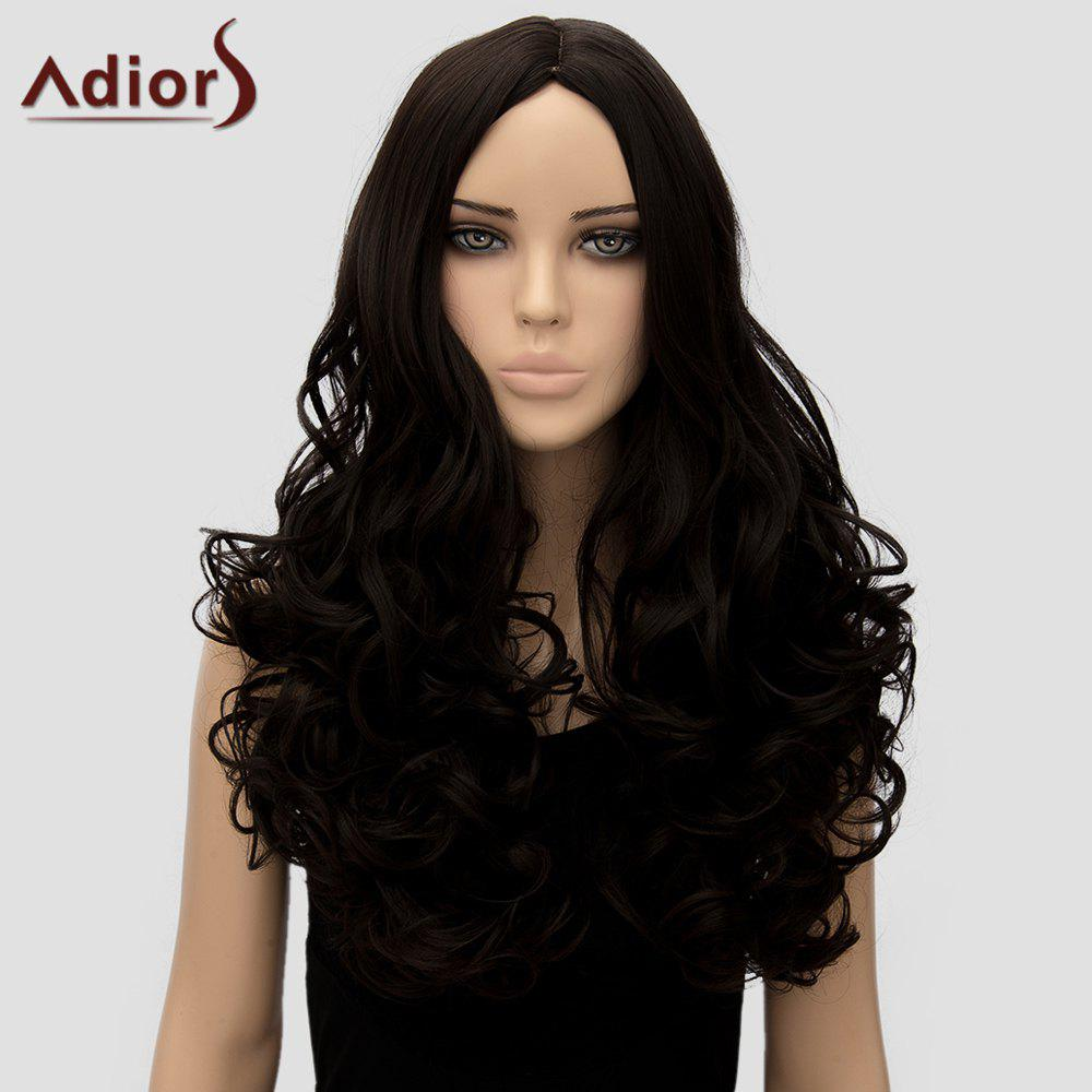 Adiors Womens Curly Long High Temperature Fiber WigHair<br><br><br>Color: BLACK