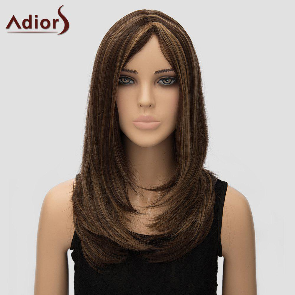Adiors Women's Natural Straight Long High Temperature Fiber Wig - COLORMIX