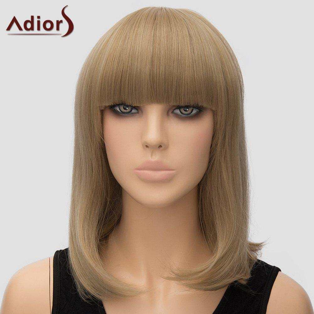 Women's Adiors Straight Full Bang High Temperature Fiber Wig - FLAX