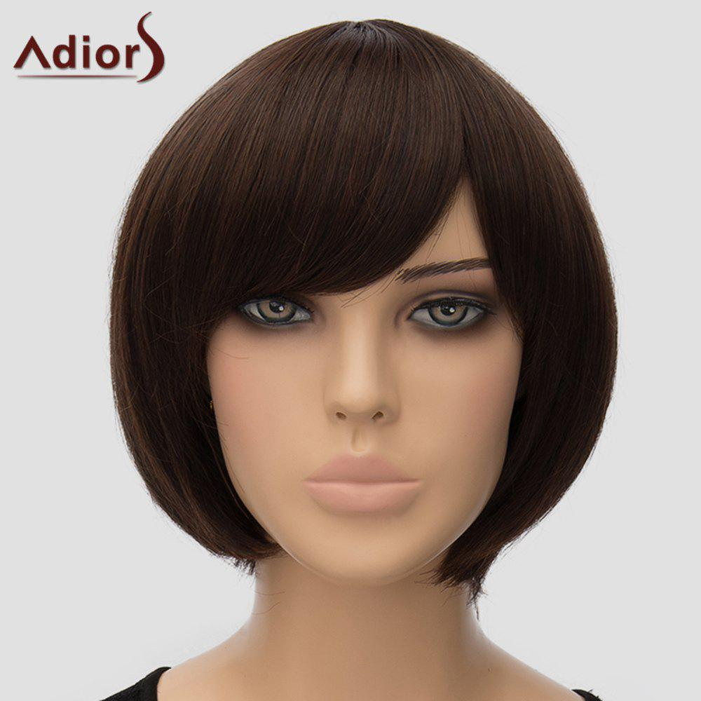 Fashion Adiors Bobo Women's Short High Temperature Fiber Wig - DEEP BROWN