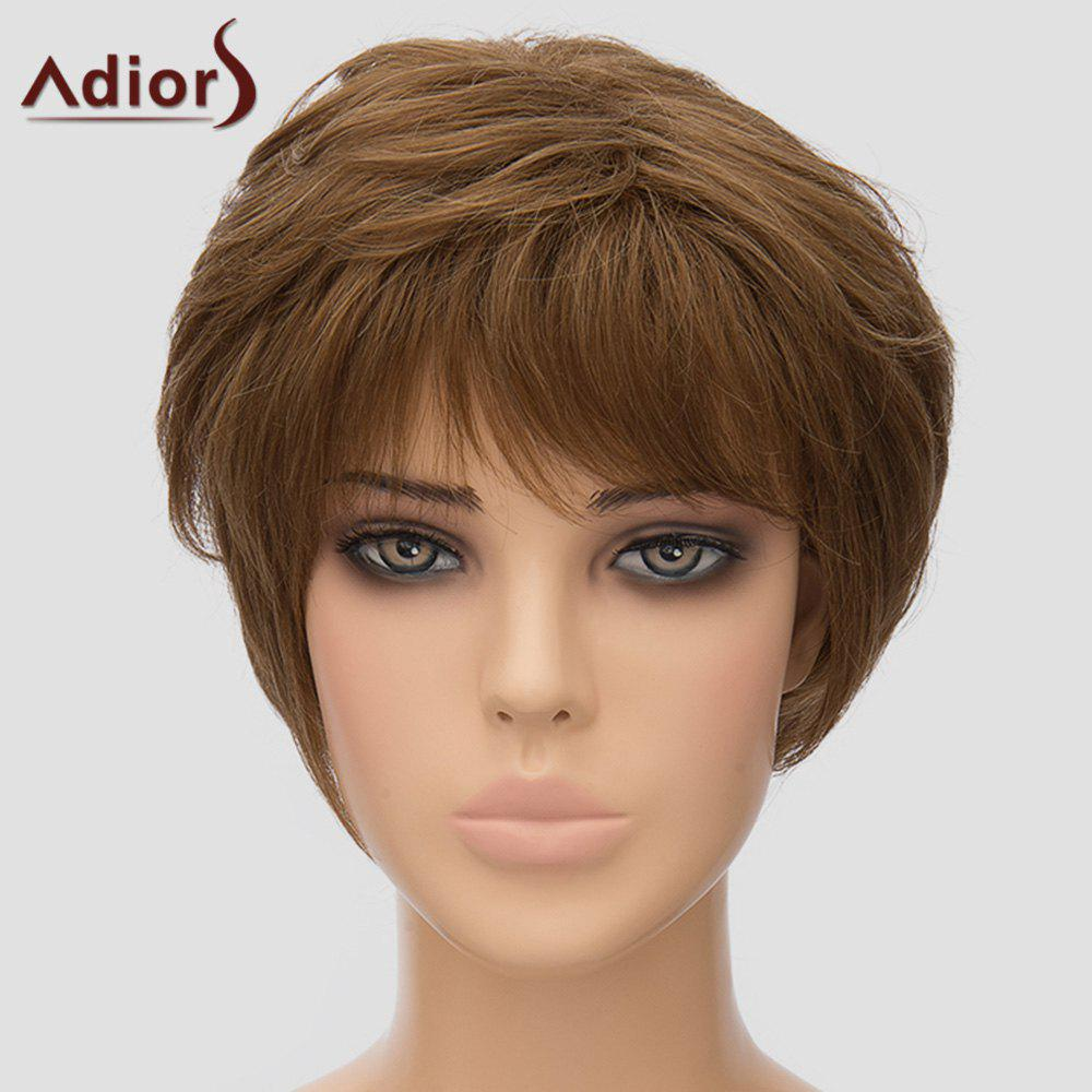 Shaggy Women's Adiors Short High Temperature Fiber Wig - DEEP BROWN