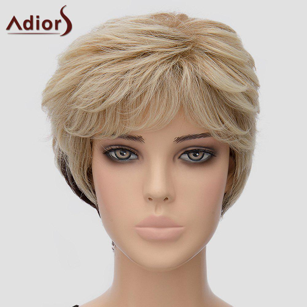 Fluffy Women's Adiors Short Heat Resistant Synthetic Wig - OMBRE