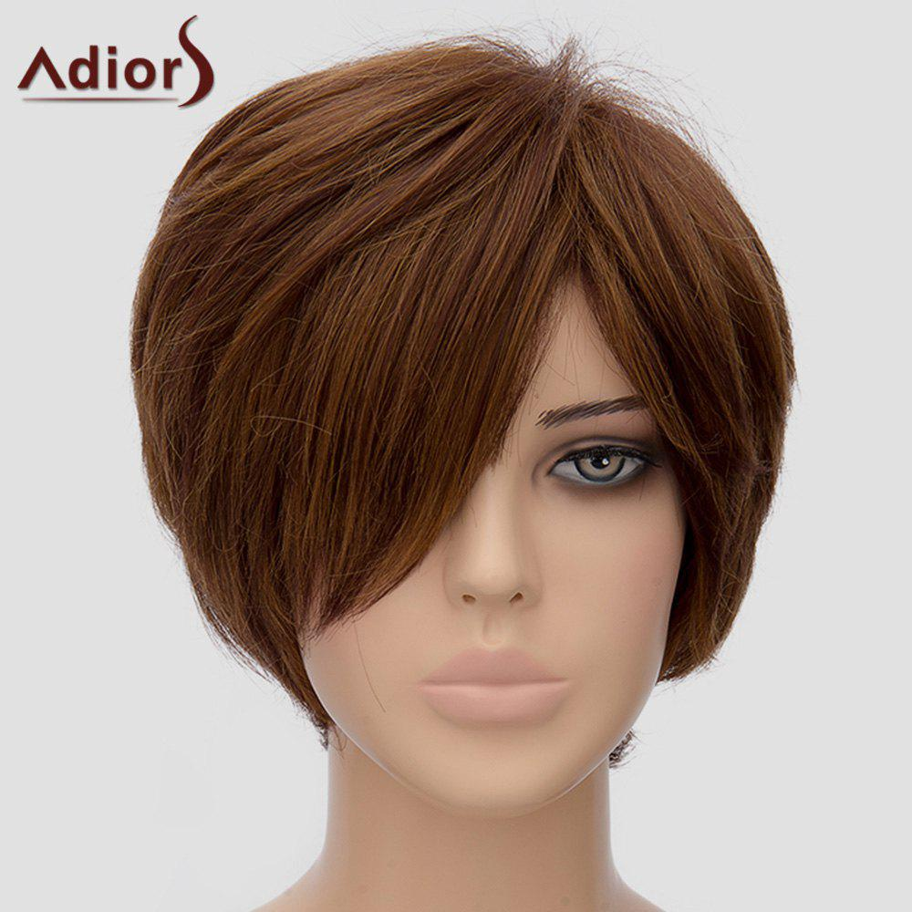 Women's Fashion Adiors Side Bang Short Heat Resistant Synthetic Wig - LIGHT BROWN