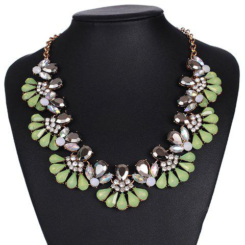Vintage Rhinestone Alloy Water Drop Necklace Jewelry For Women